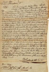 Subpoena from Margaret Porter  requesting the presence  of Reuben Reynolds, circa 1810